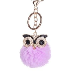 Purple Owl Keychain